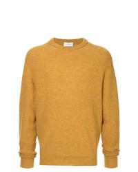 Мужской горчичный свитер с круглым вырезом от Lemaire