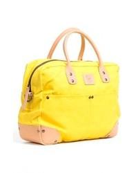 Желтая большая сумка из плотной ткани