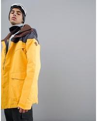 Мужская желтая ветровка от Burton Snowboards