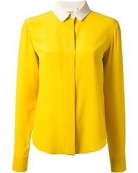 Женская желтая классическая рубашка от Chloé