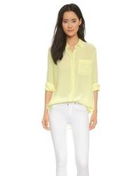 Женская желтая классическая рубашка от Equipment