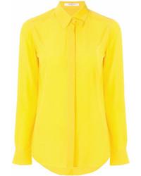 Женская желтая классическая рубашка от Givenchy