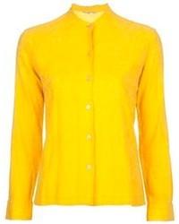Женская желтая классическая рубашка от Ken Scott