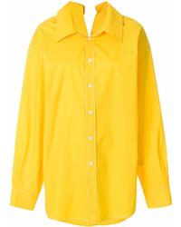 Женская желтая классическая рубашка от Marni