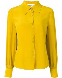 Женская желтая классическая рубашка от MCQ
