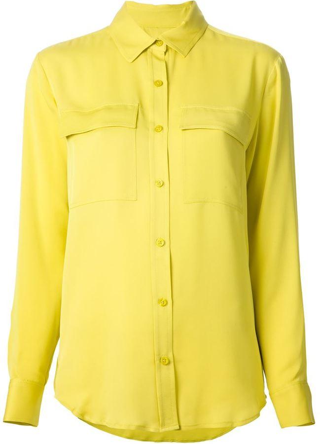 d8292d807048 Женская желтая классическая рубашка от MICHAEL Michael Kors