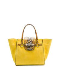 Желтая кожаная сумка-саквояж от Ermanno Scervino