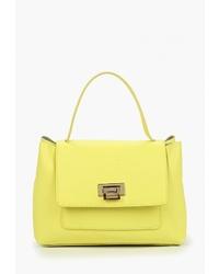 Желтая кожаная сумка-саквояж от LAMANIA