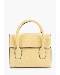 Желтая кожаная сумка-саквояж от Mango