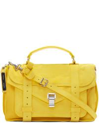 Желтая кожаная сумка-саквояж от Proenza Schouler