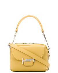 Желтая кожаная сумка-саквояж от Tod's