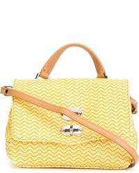 Желтая кожаная сумка-саквояж от Zanellato