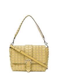 fc50abe50a31 Купить желтую кожаную сумку через плечо с украшением - модные модели ...