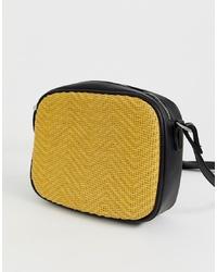 50f6ef9c8ac6 Купить желтую кожаную сумку через плечо в интернет-магазине Asos ...