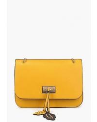 f7d01ad51cf4 Купить желтую кожаную сумку через плечо - модные модели сумок через ...