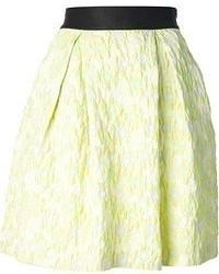 Желтая короткая юбка-солнце
