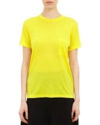 Желтая кофта с коротким рукавом