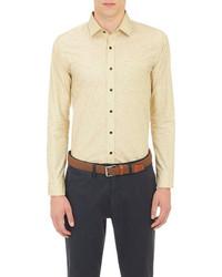 Желтая рубашка с длинным рукавом