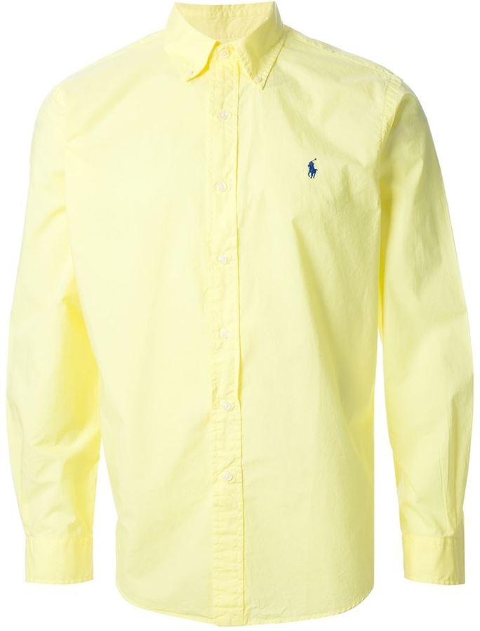 a8e5925e08b ... Мужская желтая рубашка с длинным рукавом от Polo Ralph Lauren