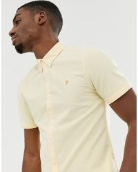 Мужская желтая рубашка с коротким рукавом от Farah