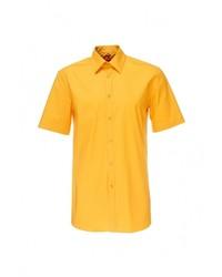 Мужская желтая рубашка с коротким рукавом от GREG