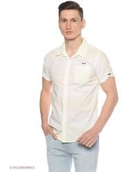 Мужская желтая рубашка с коротким рукавом от Mezaguz