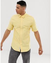 Мужская желтая рубашка с коротким рукавом от ONLY & SONS