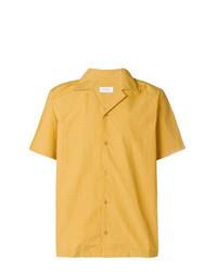 Мужская желтая рубашка с коротким рукавом от Saturdays Nyc