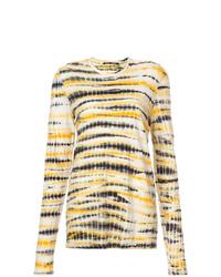 Женская желтая футболка с длинным рукавом с принтом тай-дай от Proenza Schouler