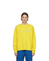 Мужская желтая футболка с длинным рукавом с принтом от Noon Goons