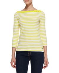 Желтая футболка с длинным рукавом