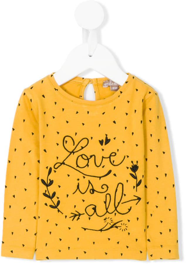 Детская желтая футболка с длинным рукавом для девочке от Emile et Ida