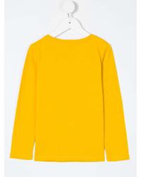 Детская желтая футболка с длинным рукавом для девочке