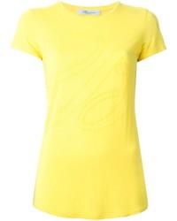 Желтая футболка с круглым вырезом
