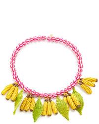 Желтое ожерелье-чокер от Mercedes Salazar
