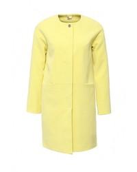 Женское желтое пальто от Zarina