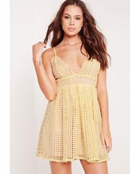 Платье майка желтое