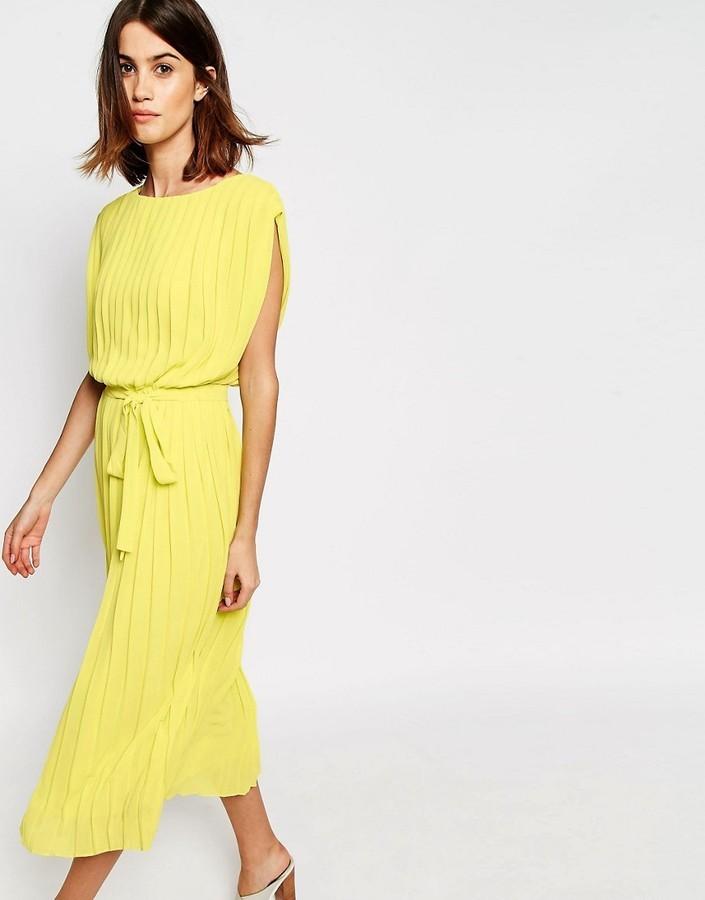 Женское желтое платье купить
