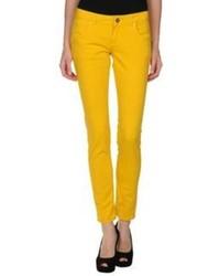 Желтые джинсы скинни