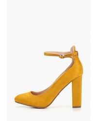Желтые замшевые туфли от Ideal Shoes