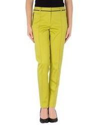 Желтые классические брюки