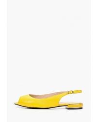 Желтые кожаные балетки от Berkonty