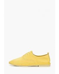 Женские желтые кожаные оксфорды от Sprincway