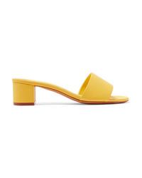 Желтые кожаные сабо