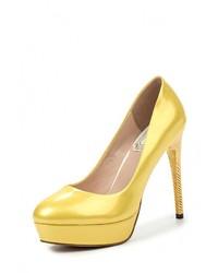 Желтые кожаные туфли от Elsi