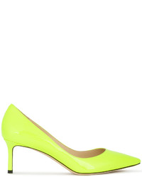 Желтые кожаные туфли от Jimmy Choo