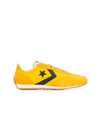 Мужские желтые низкие кеды из плотной ткани от Converse
