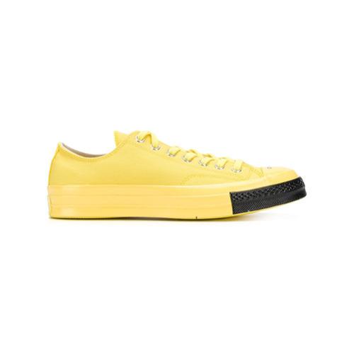 Мужские желтые низкие кеды от Converse