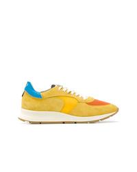Мужские желтые низкие кеды от Philippe Model