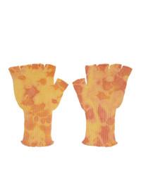 Мужские желтые перчатки от The Elder Statesman
